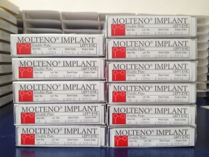 Molteno® Double Plate Implant boxes, left eye (L2)